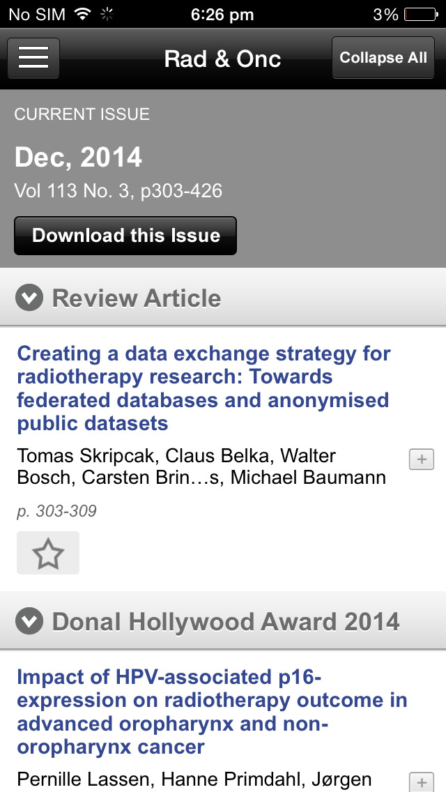 Radiotherapy and Oncology screenshot 4
