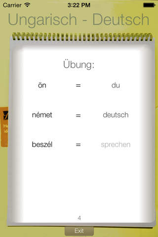 Vocabulary Trainer: German - Hungarian - náhled