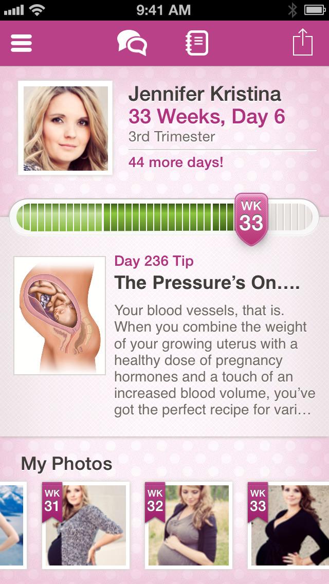BabyBump Pregnancy Pro with Baby Names screenshot 1