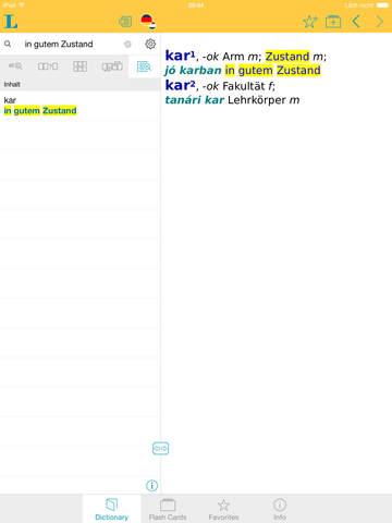 German Hungarian Dictionary screenshot 7