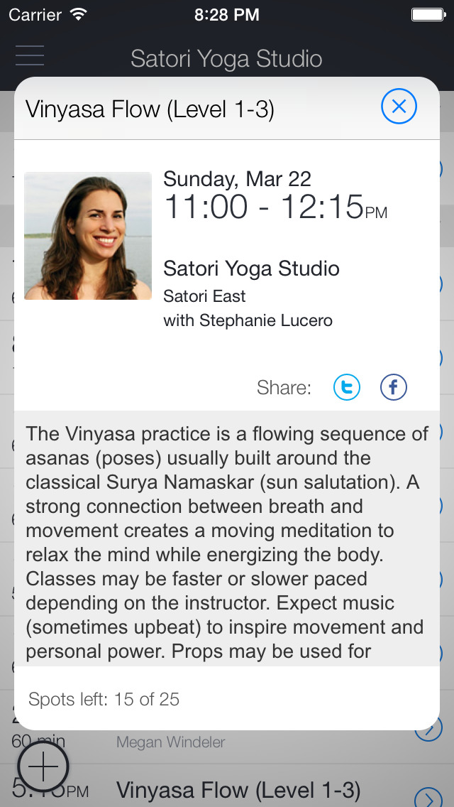 Satori Yoga Studio screenshot 2