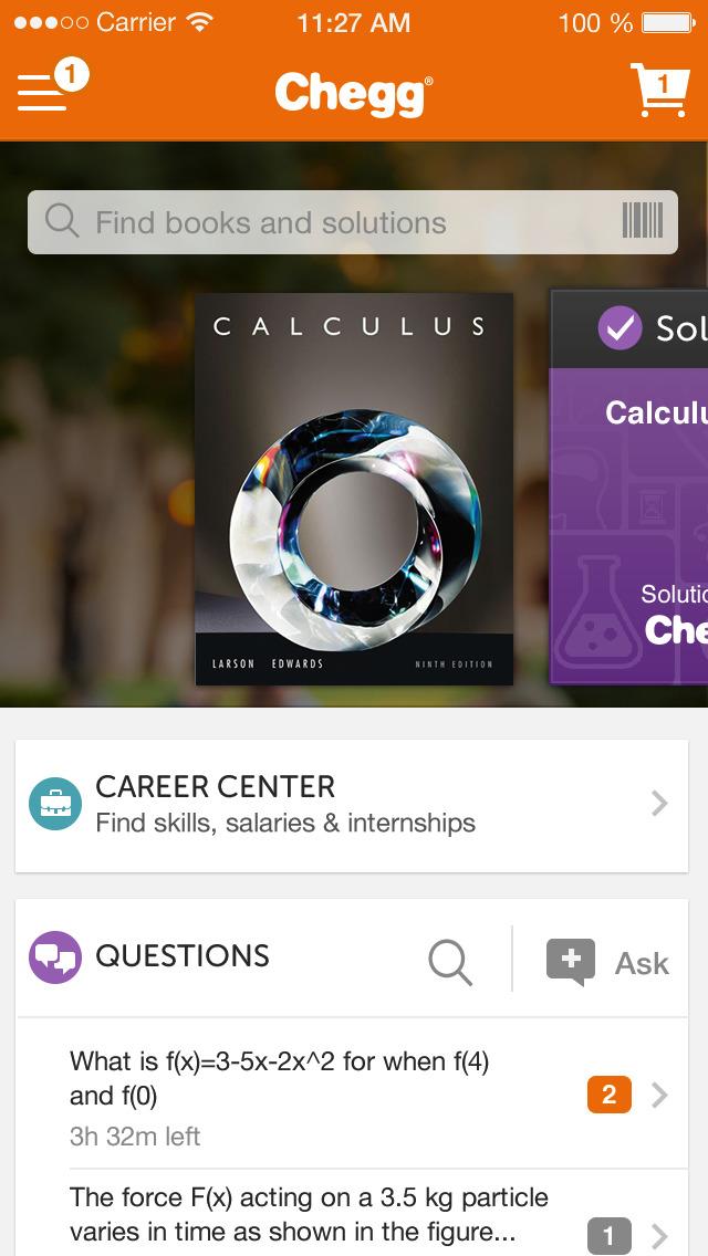 Chegg homework help app