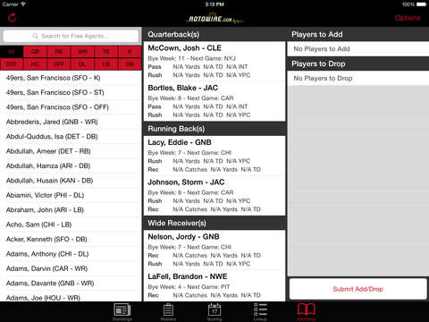 RT Sports Football Manager 2015 by RotoWire screenshot 10
