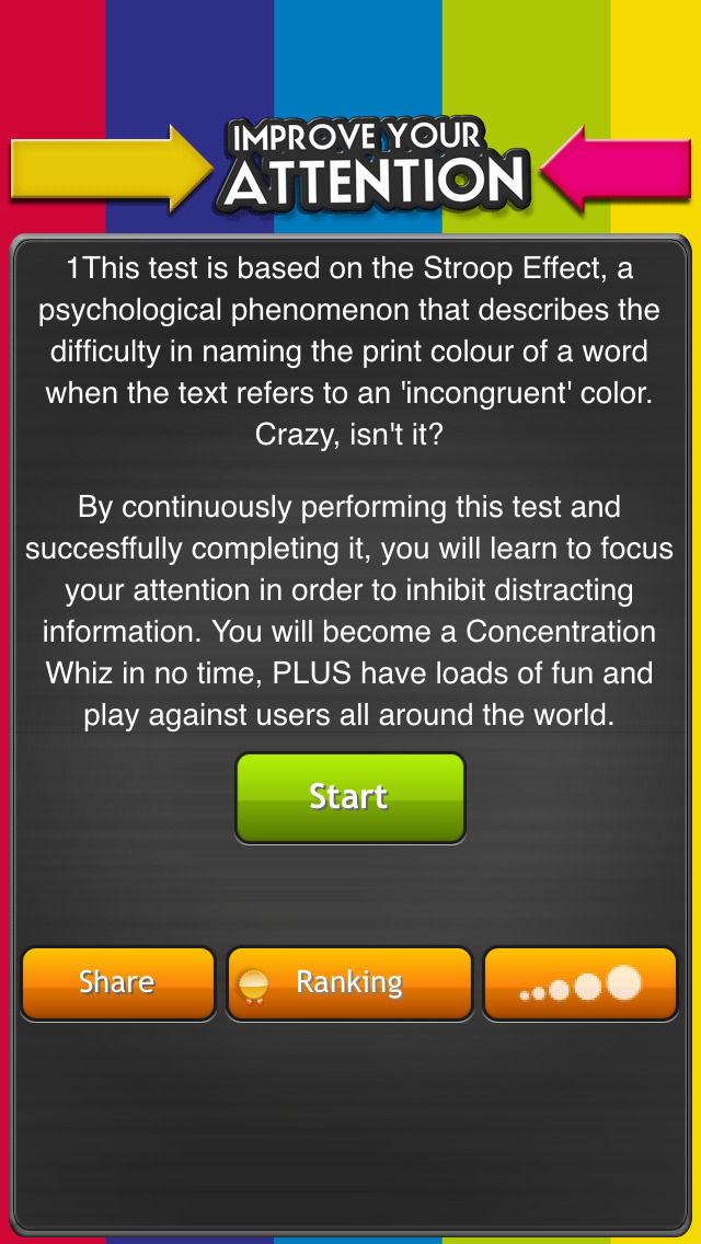 Improve your attention: test your reaction rate + screenshot #2