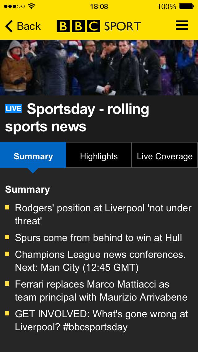 BBC Sport screenshot #2