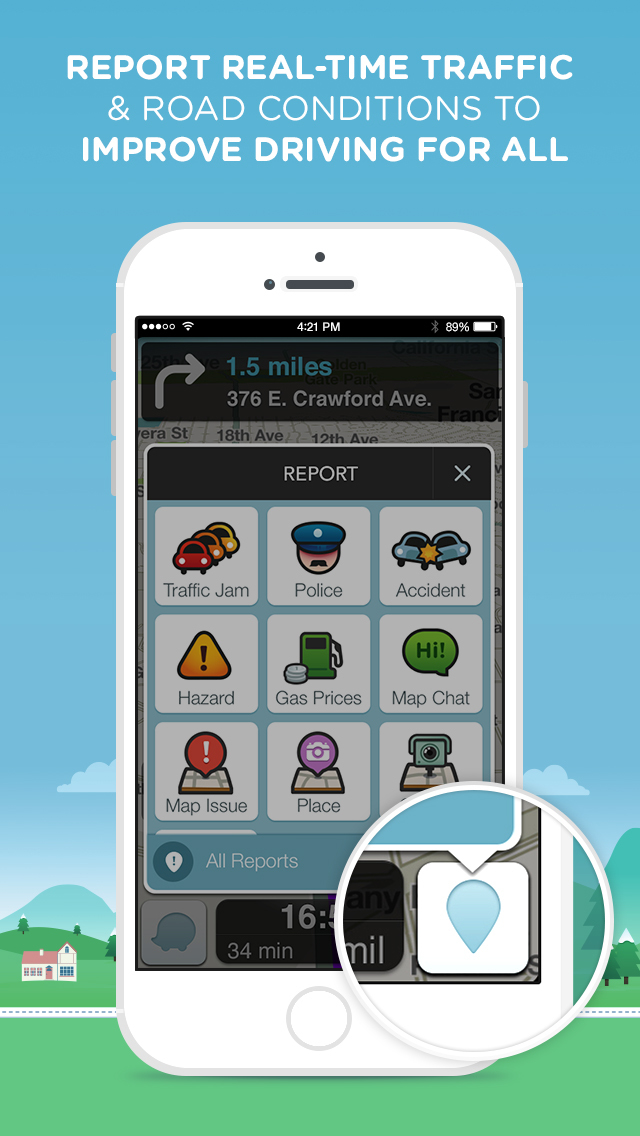 Waze Navigation & Live Traffic screenshot 2