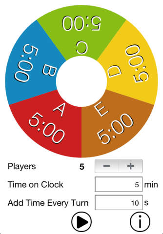 QuickGame – Board Game Clock - náhled