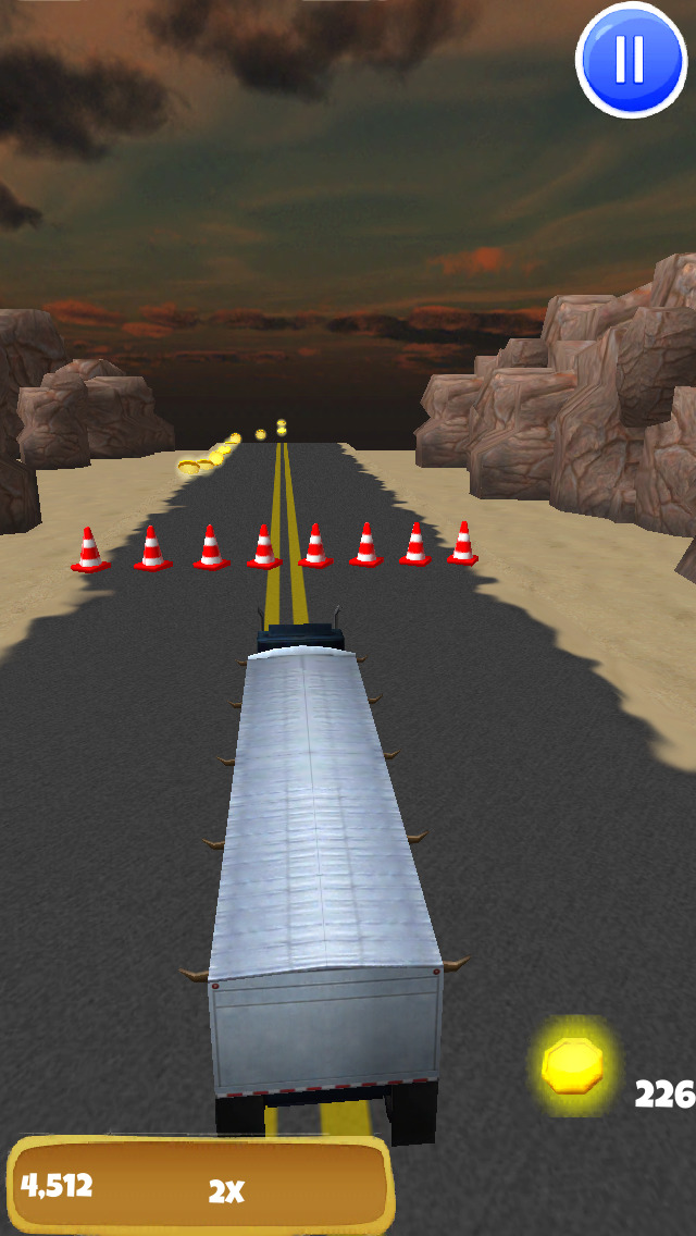 Big Rig Trucker: 3D Semi Truck Driving Game - FREE Edition screenshot 4