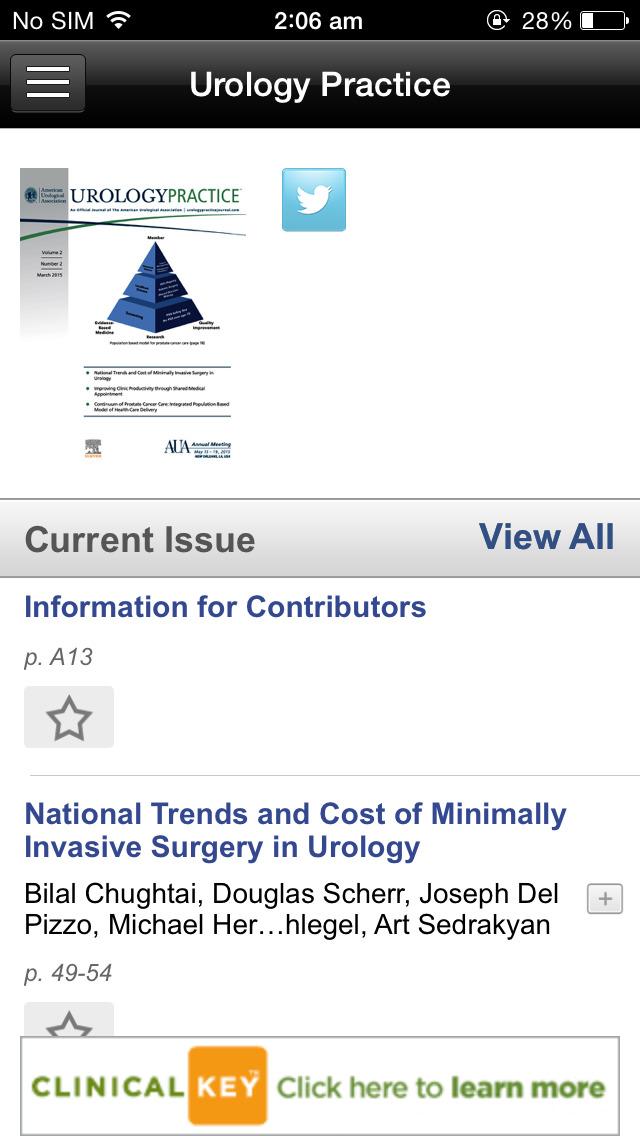 American Urological Association Journals screenshot 4