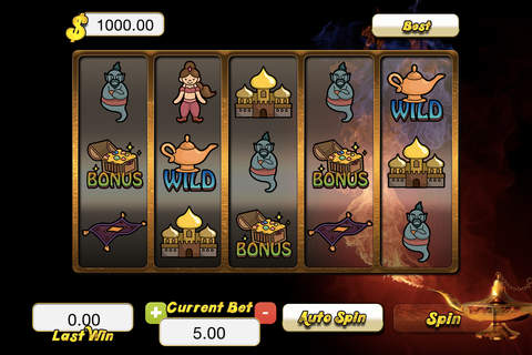 ``A Genie Lamp Slots`` - Arabian Mystery Casino Ga - náhled