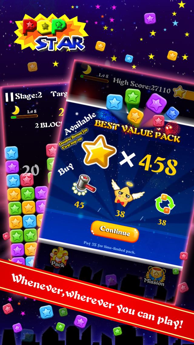 PopStar-Star Blast Puzzle Game screenshot 4