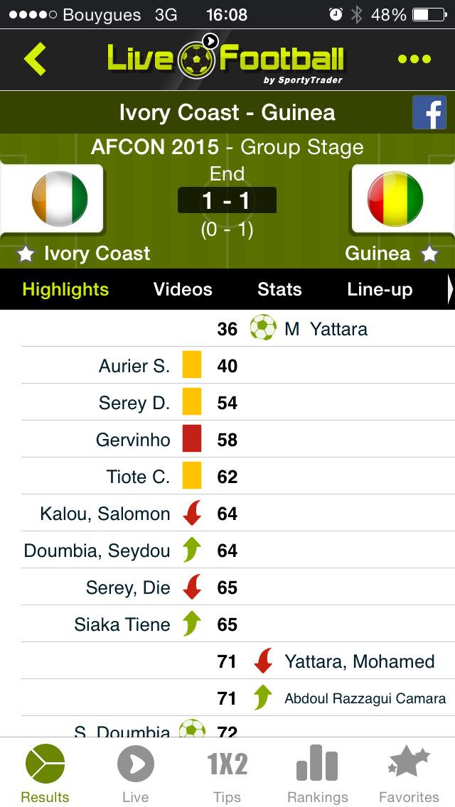 Live Soccer Scores -Skores screenshot 2