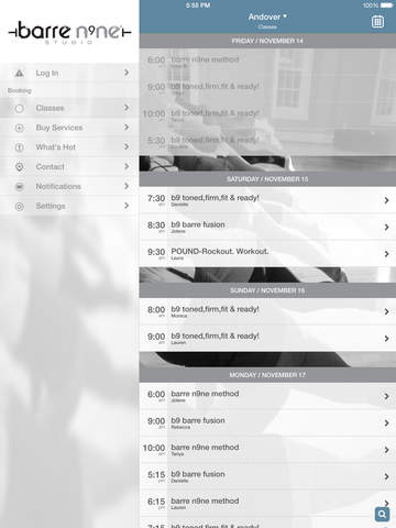 barre n9ne® studio screenshot #2