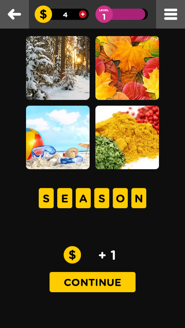 Guess The Word - 4 Pics 1 Word screenshot 1