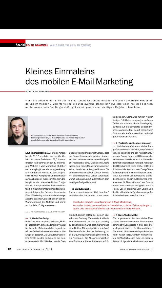 ecommerce Magazin screenshot 2