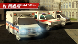 Ambulance Simulator 3D - Patients emergency rescue and hospital delivery sim - Test real car driving, parking and racing skills screenshot 2