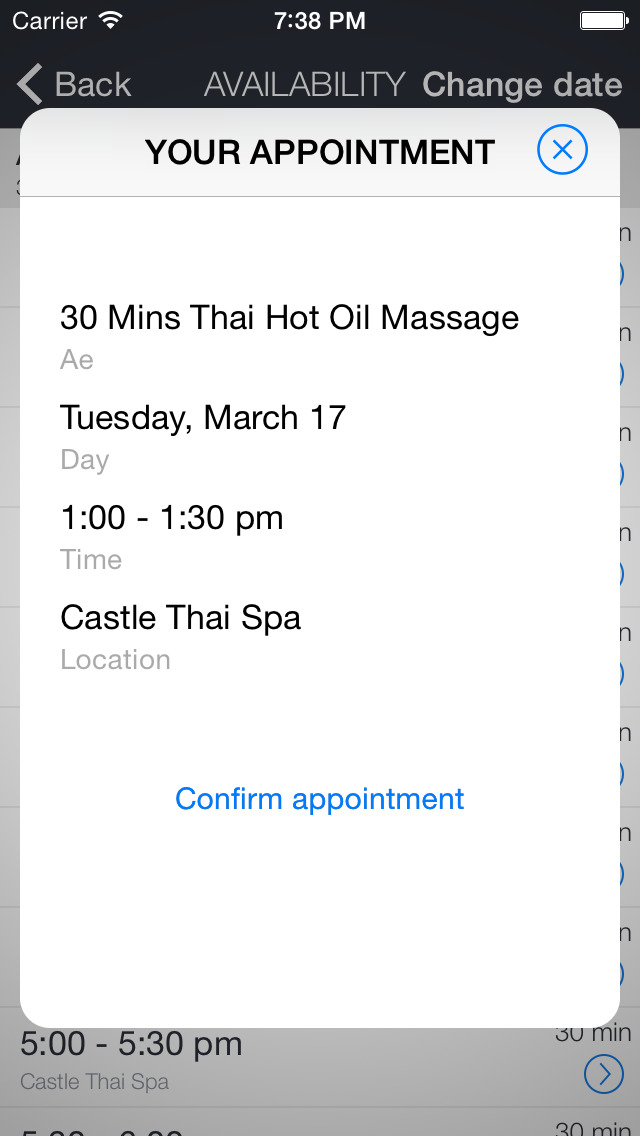 Castle Thai Spa screenshot 2