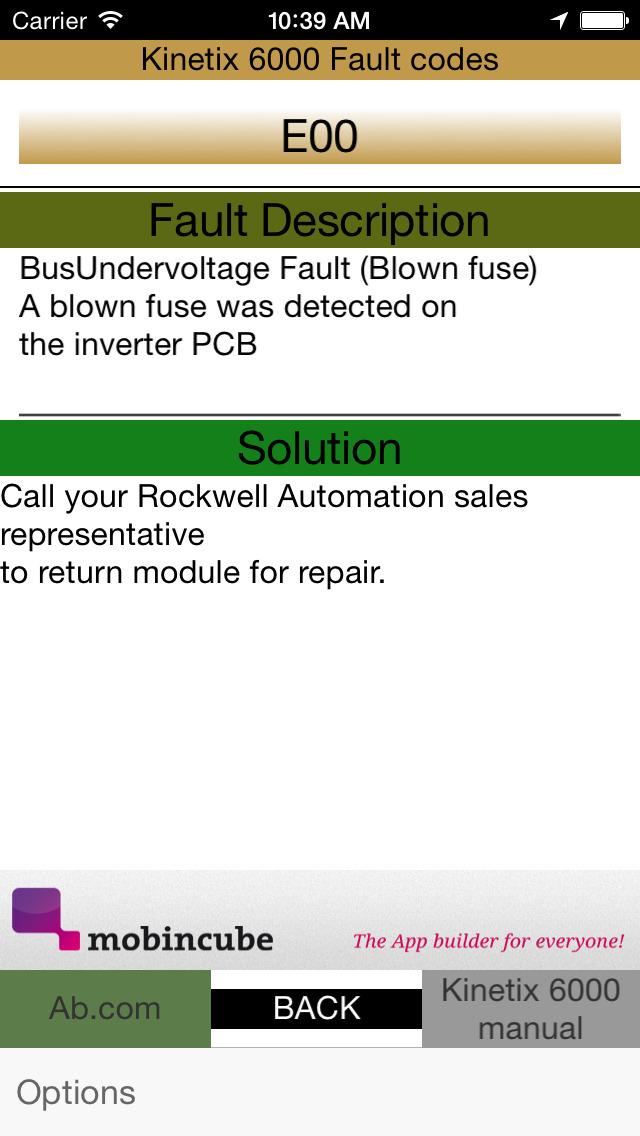 PLC Drive Fault Finder screenshot 5