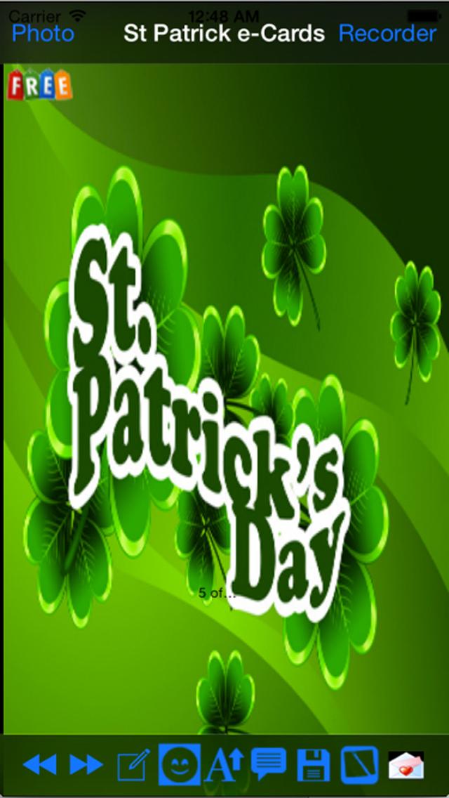 Saint Patrick's Day eCards screenshot 1