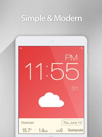 Red Clock - Weather & Alarm screenshot 6