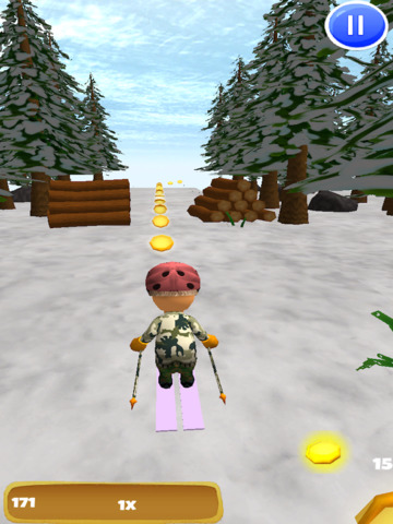 A Downhill Snow Skier: 3D Mountain Skiing Game - Pro Edition screenshot 6