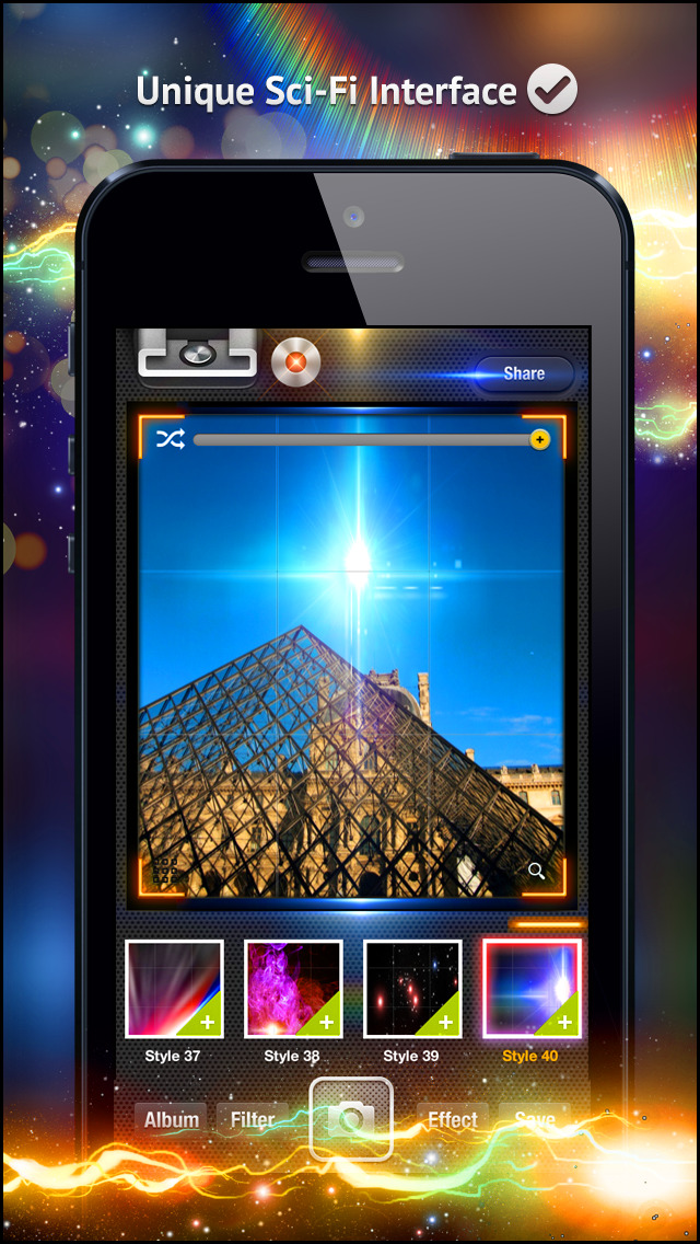 Awesome Light Camera FX Plus - The ultimate photo editor plus art image effects & filters screenshot 2
