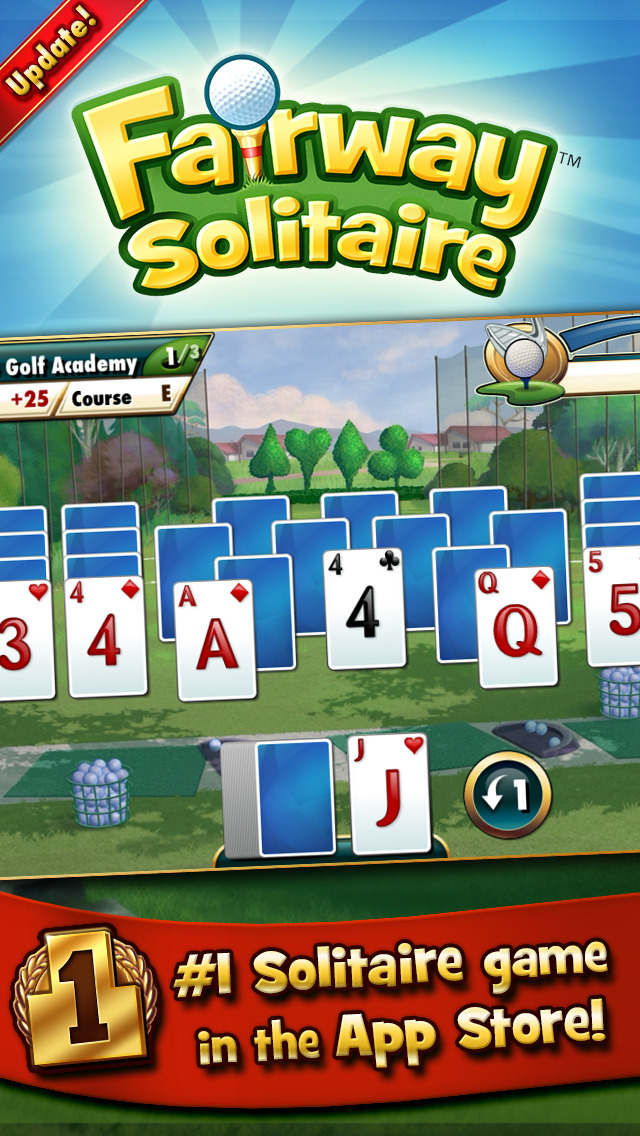 Fairway Solitaire by Big Fish screenshot 1