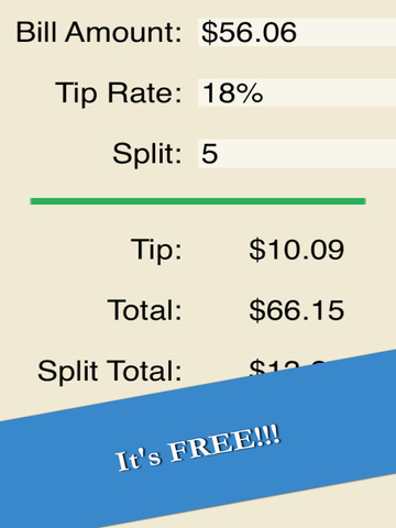 Calculate Tip - Easy Restaurant Gratuity Calculator Free screenshot 6