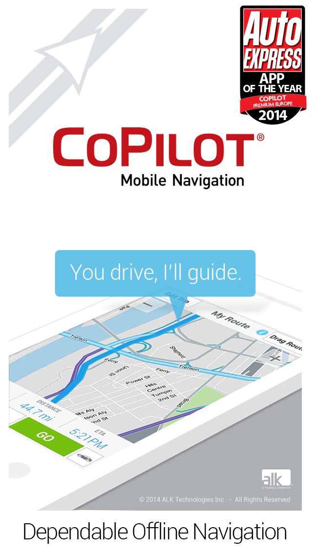 ALK CoPilot Live Premium for the iPhone in the Test