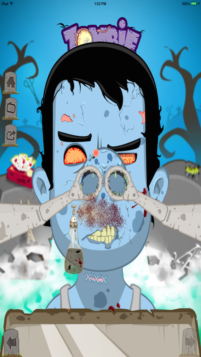 Zombie Nose Surgery - Lite screenshot 1