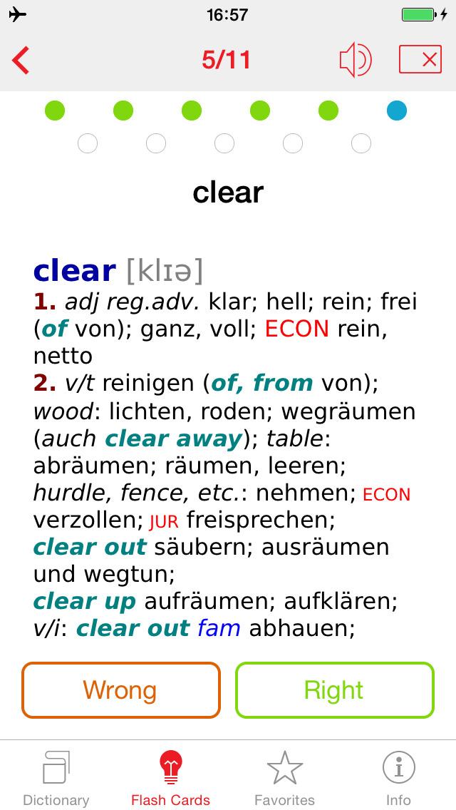 German - English Berlitz Basic Talking Dictionary screenshot 3