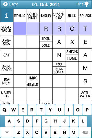 Free Crosswords - Clues in Squares - náhled