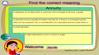 Spelling Doll English Words From Spanish Origin Vocabulary Quiz  Grammar screenshot 5
