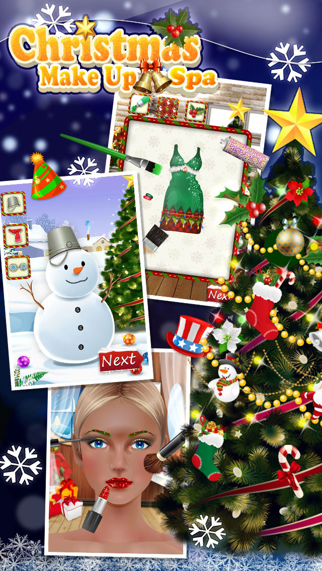 Christmas MakeUp Spa - Princess Fashion Salon screenshot 2