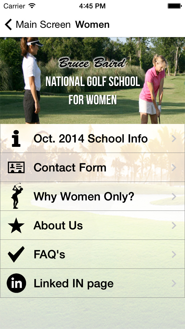 Bruce Baird's Nationwide Golf Schools and Business Golf for Women screenshot 4