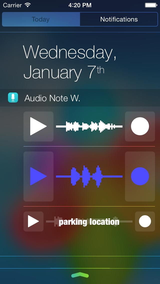 Audio Note Widget screenshot 1