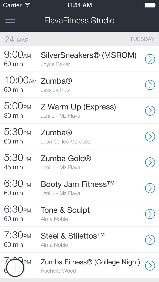 FlavaFitness Studio Mobile screenshot 1
