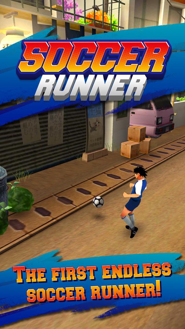 Soccer Runner: Unlimited football rush! screenshot 1