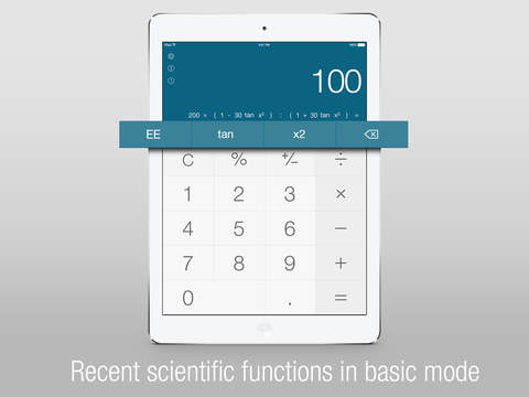 Calс One - Free Smart Calculator for iOS 8 screenshot 2