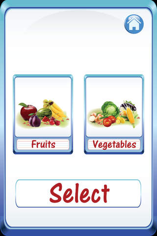 Kids Fruits & Vegetables ABC Alphabets flash cards - náhled