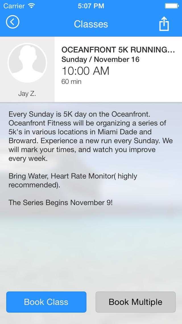 Oceanfront Fitness screenshot #4