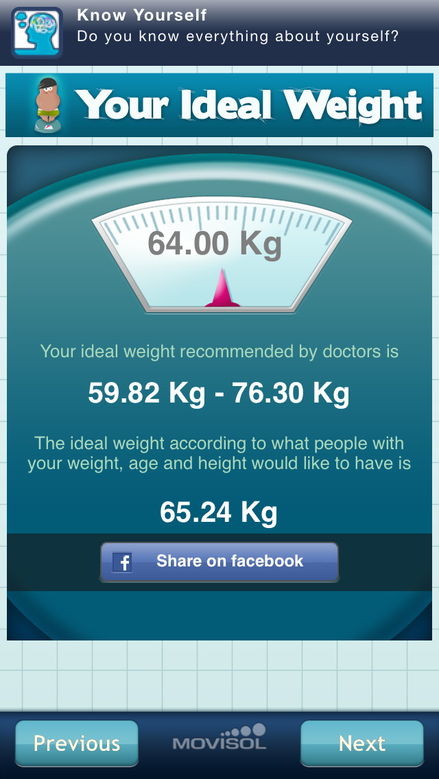 Your Ideal Weight: calculator for your losing diet screenshot #4
