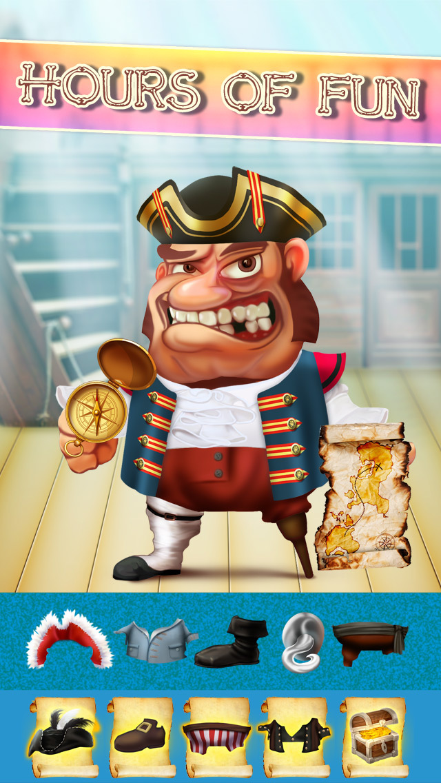 The Pirates of Treasure Island Dress Up Game - Advert Free Version screenshot 2