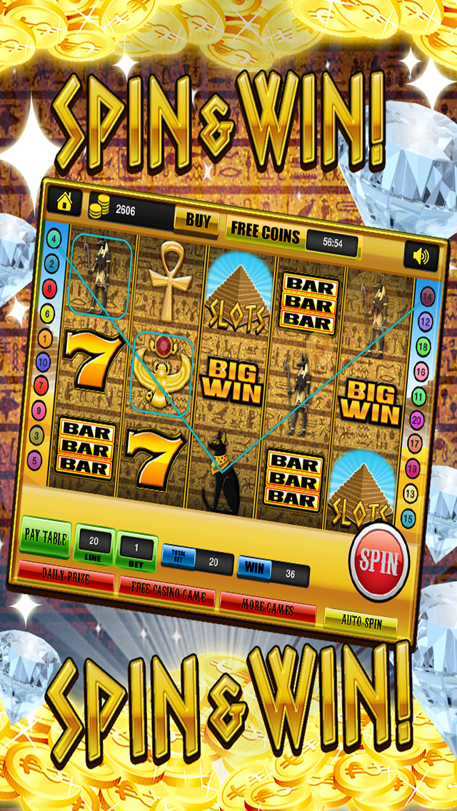 Ace Slots Pharaoh's Gold - Jackpot Kingdom Journey Slot Machine Games HD screenshot 2