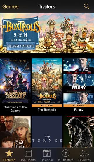 iTunes Movie Trailers screenshot #1