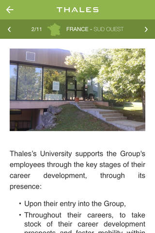 Thales Université Mobile - náhled