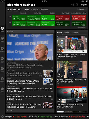 Bloomberg for iPad screenshot 1