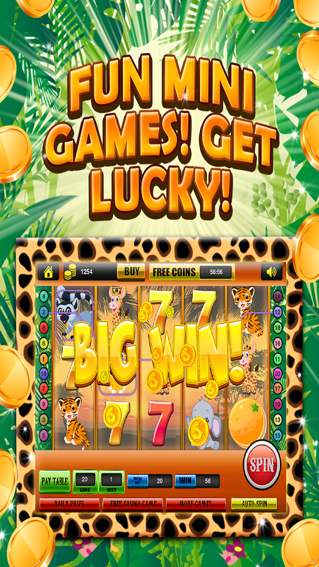 Ace Classic Vegas Baby Tiger Slots - Lucky Safari Gambling Casino Slot Machine Games HD screenshot 4