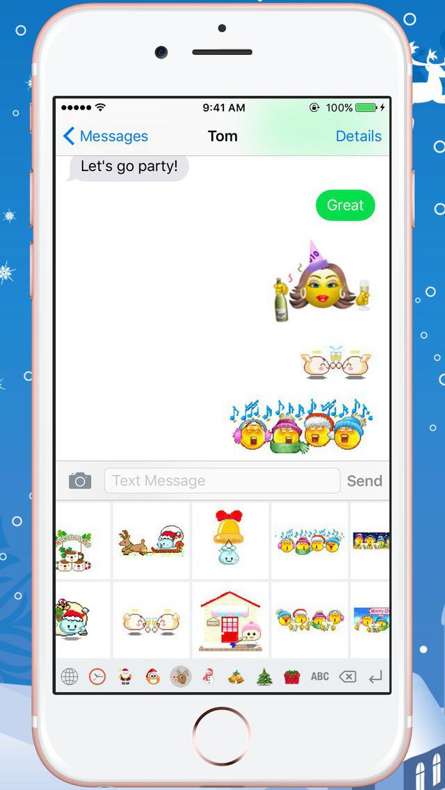 Christmas Gif Keyboard - Fully Animated Emoji for Christmas screenshot 3