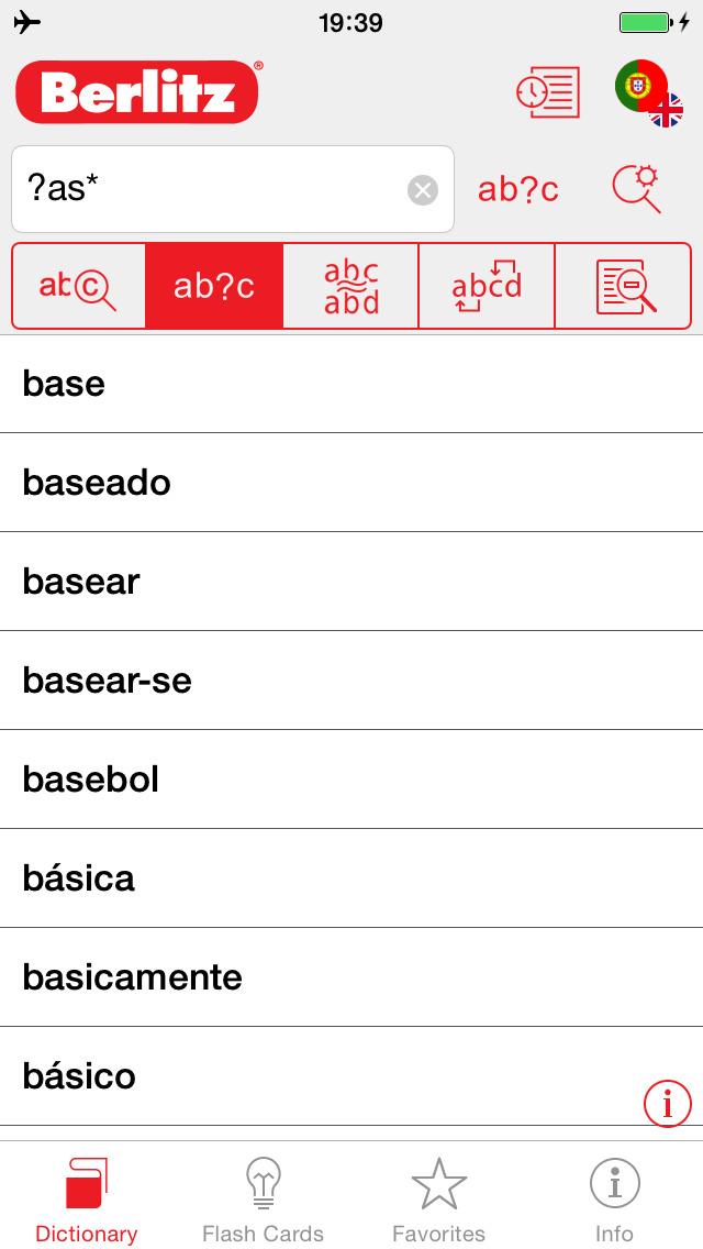 Portuguese - English Berlitz Basic Dictionary screenshot 4
